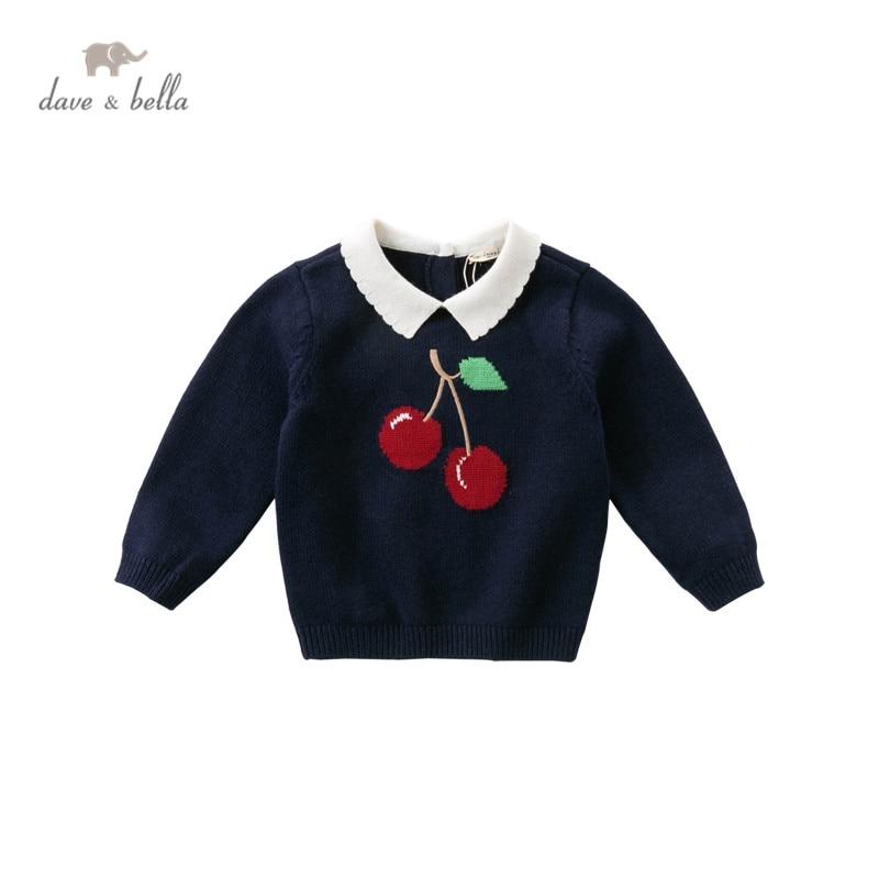 DBW14749 dave bella/осенний милый Рождественский вязаный свитер с фруктами для маленьких девочек модные эксклюзивные топы для малышей|Свитера| | АлиЭкспресс
