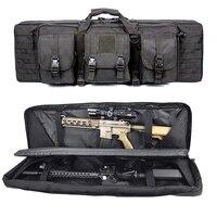 36 inch tactical gun bag dual rifle backpack bag for m4 ak47 military airsoft combat case hunting shooting portable gun carrying