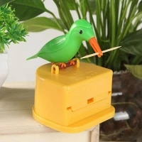 cute hummingbird toothpick dispenser gag gift cleaning teeth high quality material automatic bird toothpick box hot new