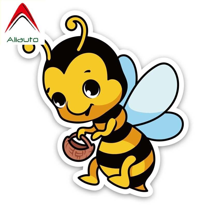 Aliauto divertido coche pegatina miel abejas recoger calcomanía accesorios PVC para Volkswagen...