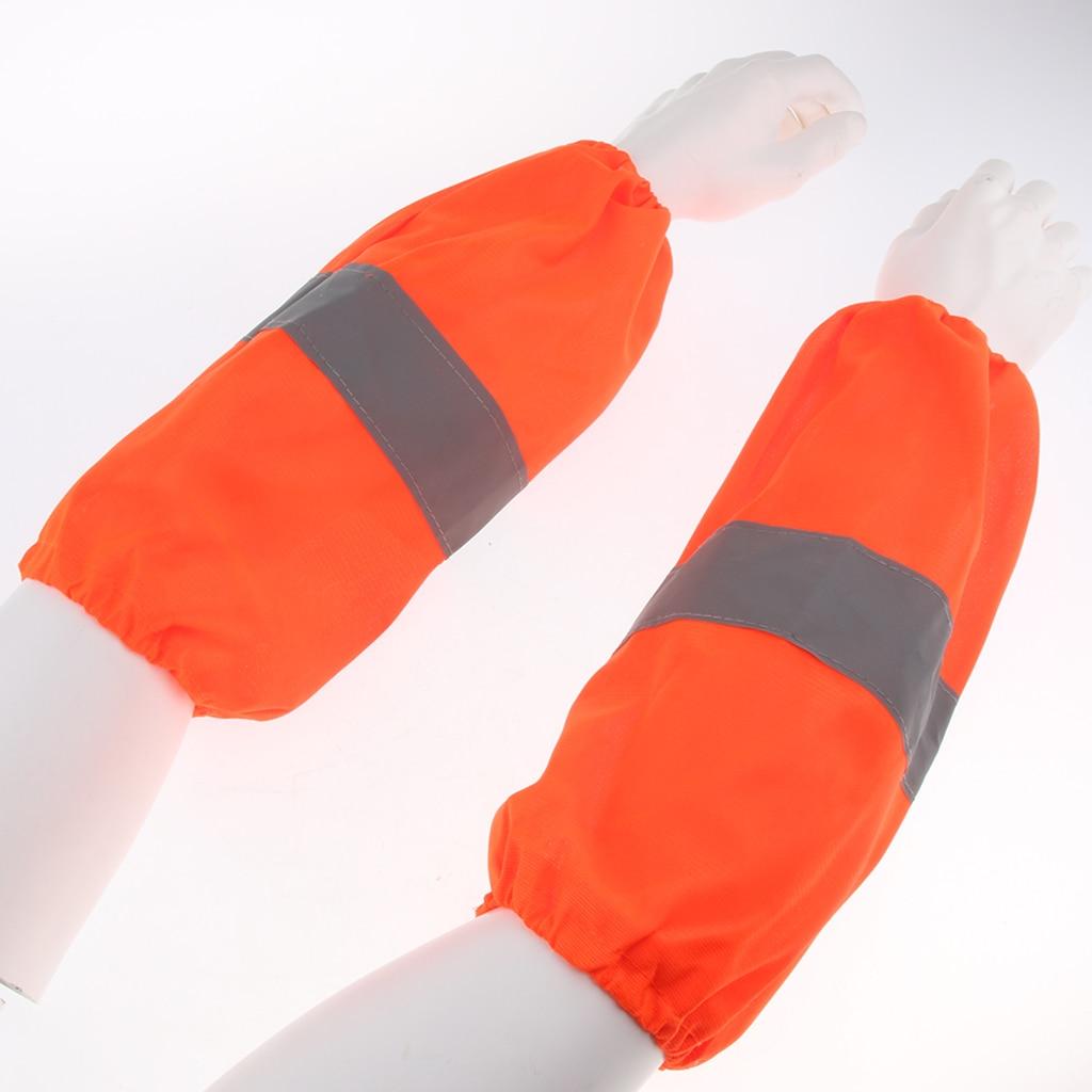Mangas reflexivas do braço da segurança cobre o trabalho sleevelet oversleeve reutilizável, dobras pequenas o suficiente para caber em seu bolso ou saco do casaco