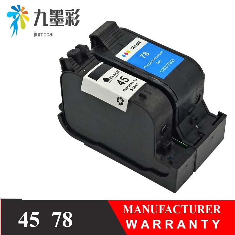Compatibles Cartuchos de tinta para HP 45 78 deskjet 1220c 3820 3822 6122 6127 930c 932c 940c 950c, impresoras para HP45 para HP78