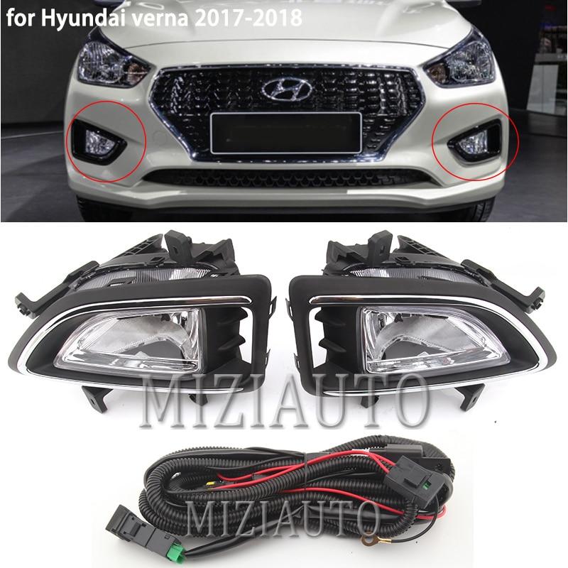 MIZIAUTO phare antibrouillard avant pour Hyundai verna   1 jeu de butoir avant 2017-2018 nouveau