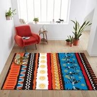 bohemia indian color tribe national style carpet living room floor mat bedroom kitchen bedside rug custom made door mat