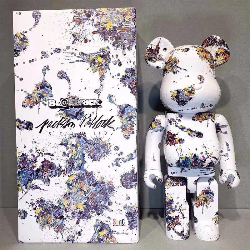 34 نمط الدب الطوب 400% 28 سنتيمتر أنيمي عمل أرقام المشتركة لديها صوت الدب نموذج الفينيل دمى الساخن العصرية اللعب Kawaii غرفة الديكور