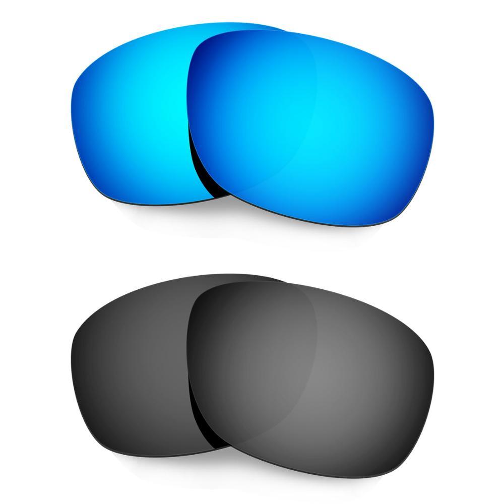 HKUCO ل عشرة × نظارات الاستقطاب استبدال العدسات 2 أزواج الأزرق والأسود