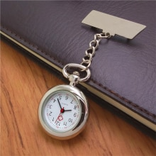 Nurses Pocket Watch Import PC21S Movement Oblique Horizontal Brooch Pocket Watch