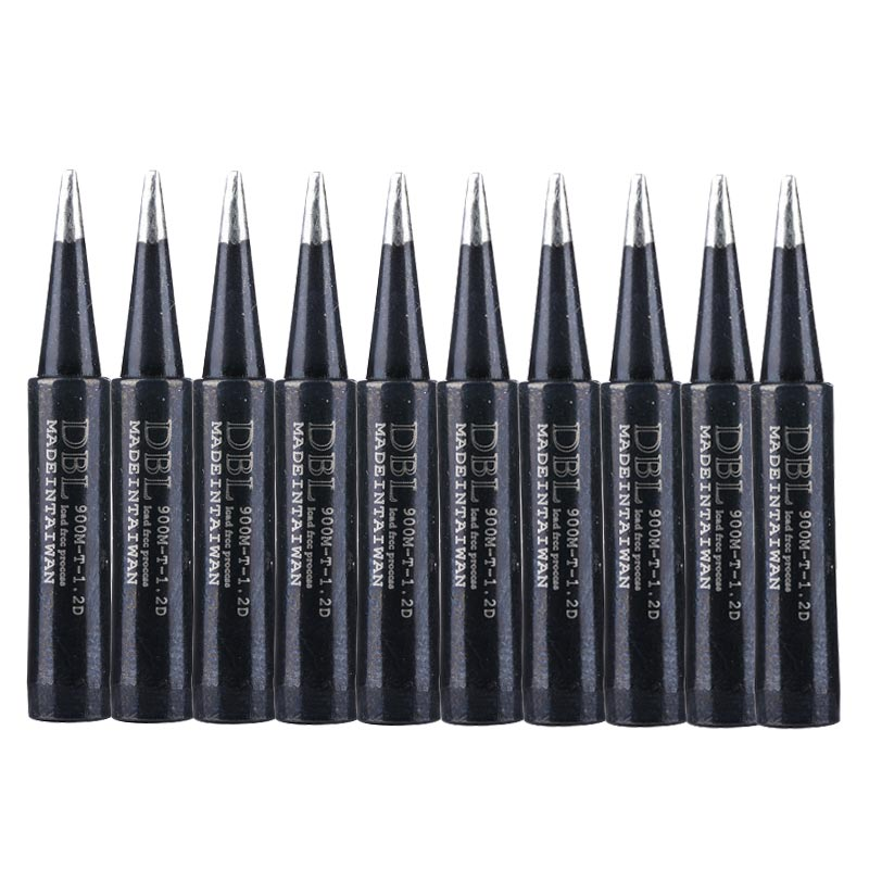 10pcs lead free 900m t i soldering iron tips for hakko 907 933 852d 936 soldering station electric replaceable welding heads 10pcs/lot 900M-T-1.2D Metal Soldering Iron Tips Lead-free Welding Tip for Hakko 936 Soldering Station Rework Tool Set
