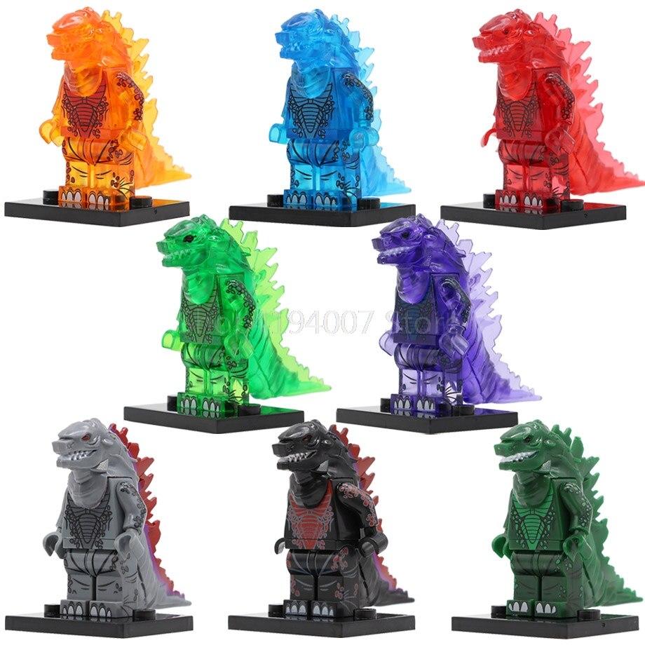 Venta única Clear Fire figura de dragón de dibujos animados película llavero juego de bloques de construcción modelo Kits ladrillos juguetes para niños