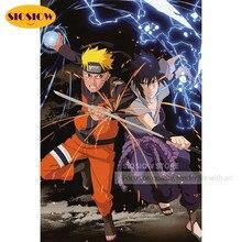 5D DIY Diamond Painting Anime Figure Naruto Sasuke Full Drill Mosaic Cross-stitch Kits 3D Embroidery Needlework Home Decor Gifts