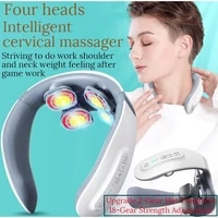 new 4 head and neck massager cervical physiotherapy instrument spine massage numbness and pain of neck and shoulder relax