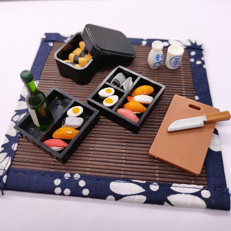 Bjd-أثاث المطبخ ، دمية ، محاكاة طبق السوشي الصغير ، مجموعة من الملحقات ، بيت اللعب ، هدية للأطفال