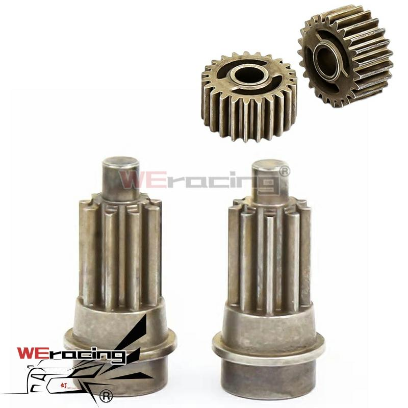 Metal Front/Rear Portal Drive Input Gear 8259 Spindle Gear Output Spindle Gear Set 8258 for 1/10 RC Crawler Traxxas TRX-4
