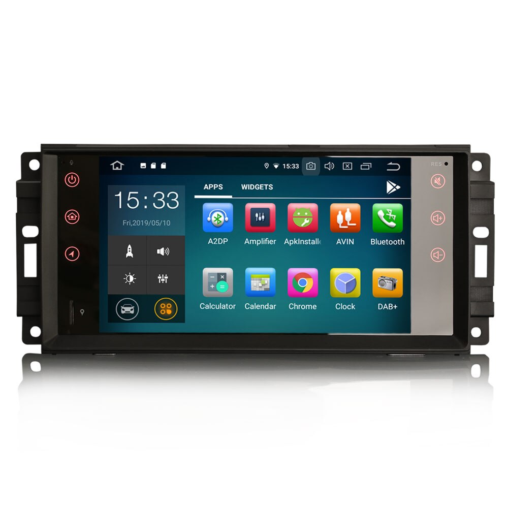 "7 ""Android 9.0 OS Auto Multimedia GPS Radio für Dodge Journey 2009-2011 & Kaliber 2009-2011 & RAM 1500/2500/3500 Pickup 2010-2012"