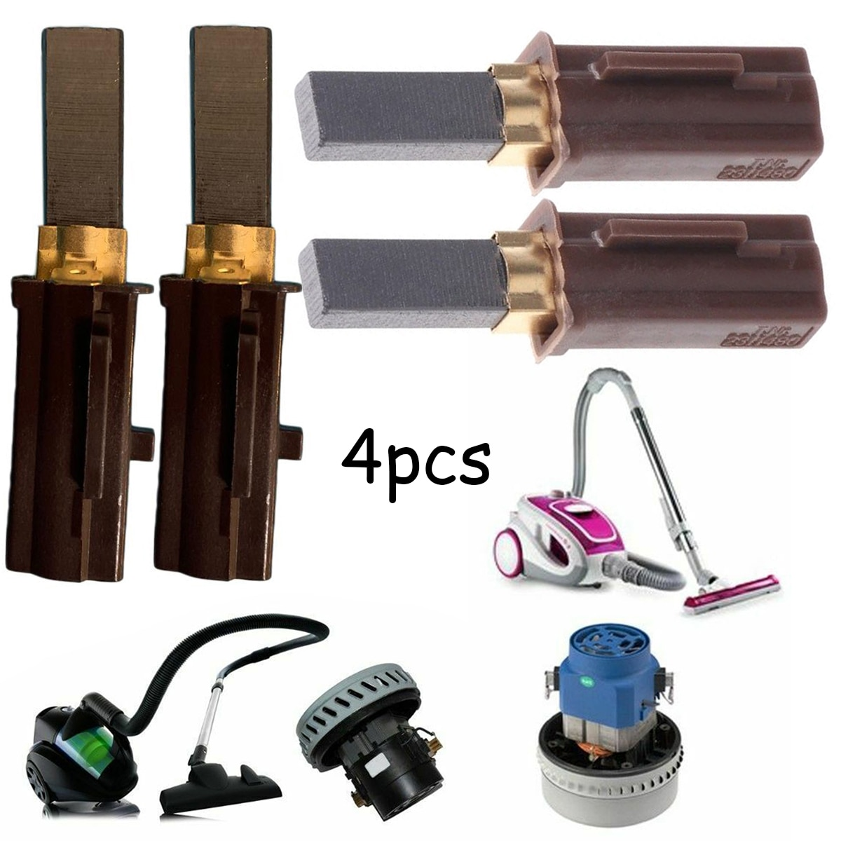 4 Uds de carbono para Motor, cepillos para aspiradora Ametek Lamb 2311480 33326-1 333261, escobilla de carbón para aspiradora
