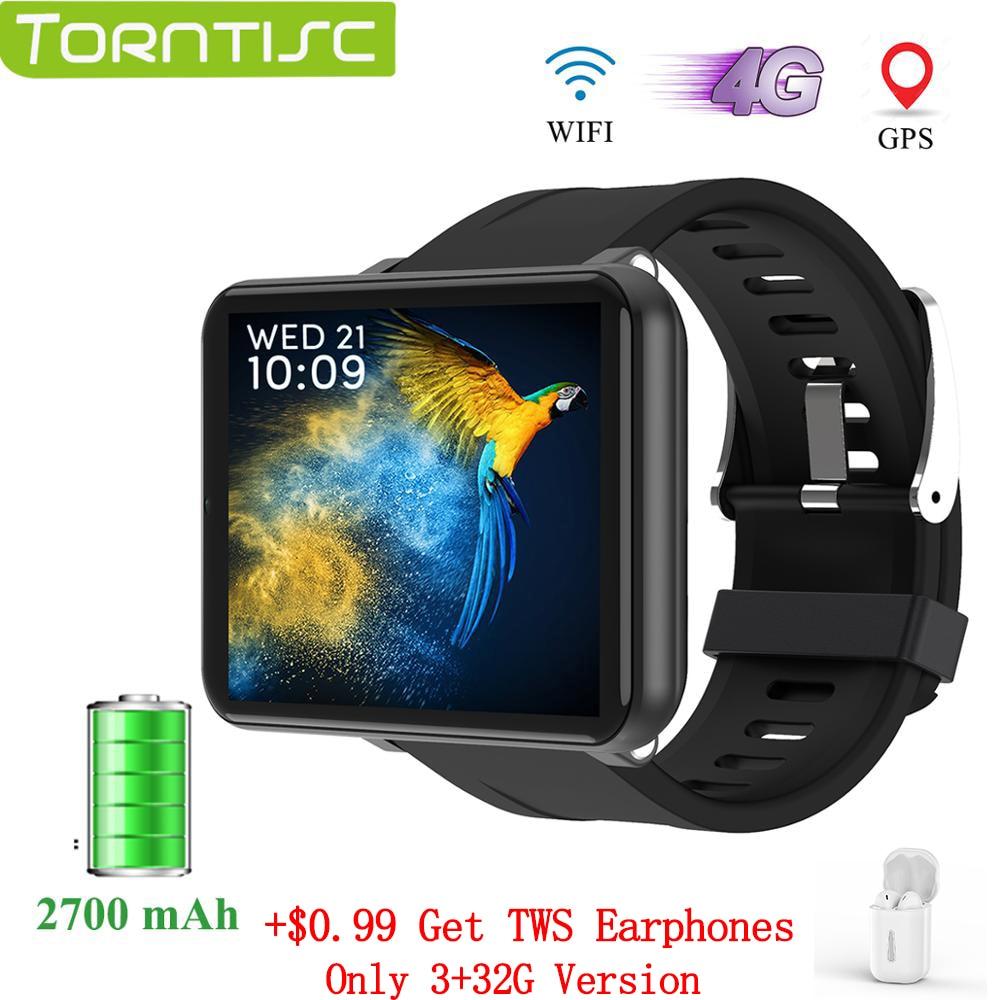 Torntisc LEMT 4G ساعة رقمية أندرويد 7.1 2.8 بوصة 640*480 شاشة 3GB + 32GB لتحديد المواقع واي فاي 2700mah بطارية كبيرة Smartwatch الرجال