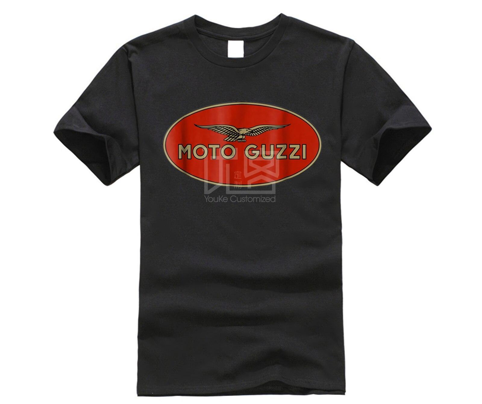 Camiseta Retro de marca para hombre Moto Guzzi