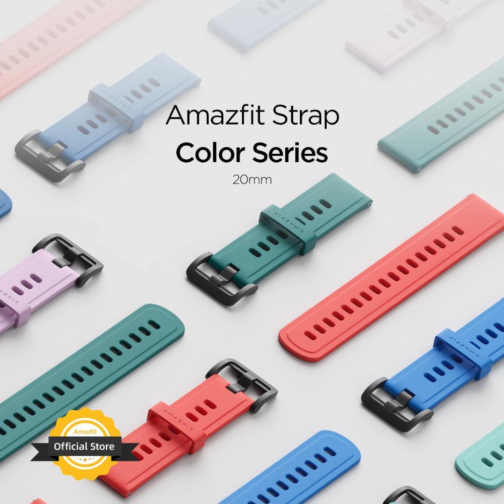 20MM Original Strap Amazfit Smart Watch Strap for Original Amazfit Bip Bip U Pace Stratos GTR Watch Amazfit Smartwatch часы amazfit stratos smart sports watch 2 a1619 черный