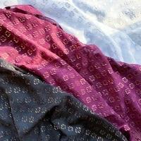 chiffon clover bronzing jacquard cut flower tulle fabric diy fashion womens hanfu shirt
