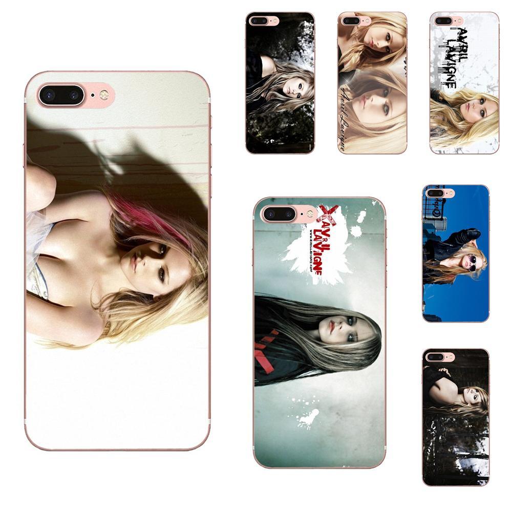 TPU Telefone Celular Caso Transparente Para Samsung Galaxy Nota 10 A71 Plus A51 A50 UM 71 UM 51 Avril Lavigne Assinado