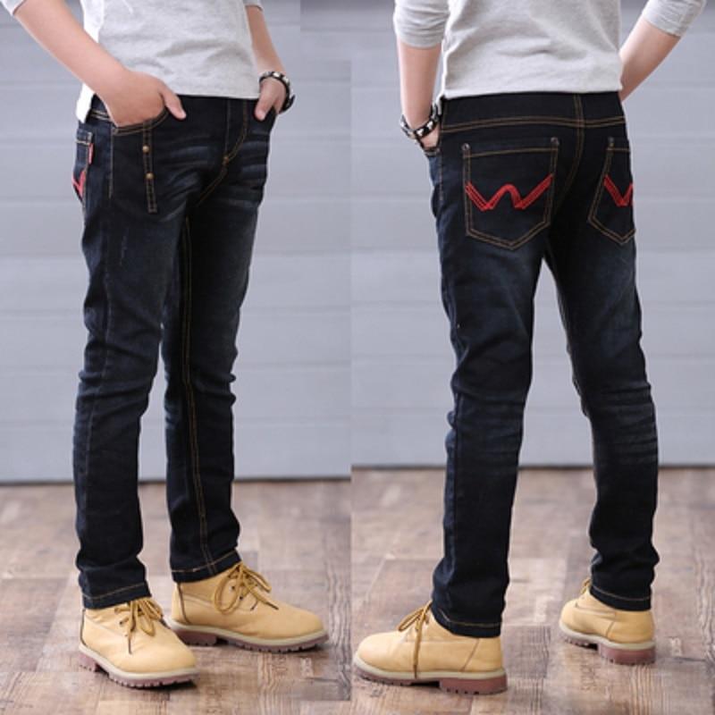 Niños pantalones primavera otoño negro jeans niños pantalones casuales niños jeans adolescentes pantalones niños pantalones casuales 4-14 Y los niños outwear