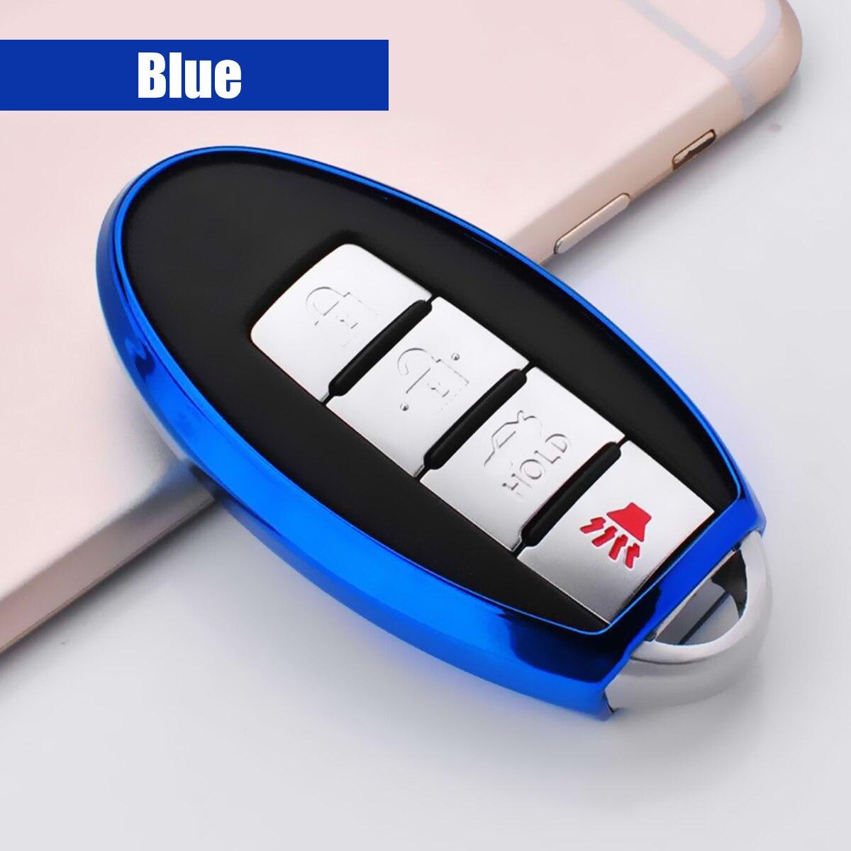 Carro tpu macio caso capa chave para nissan versa altima maxima rogue juke leaf titã para infiniti m35 m37 m45 fx50 acessórios do carro