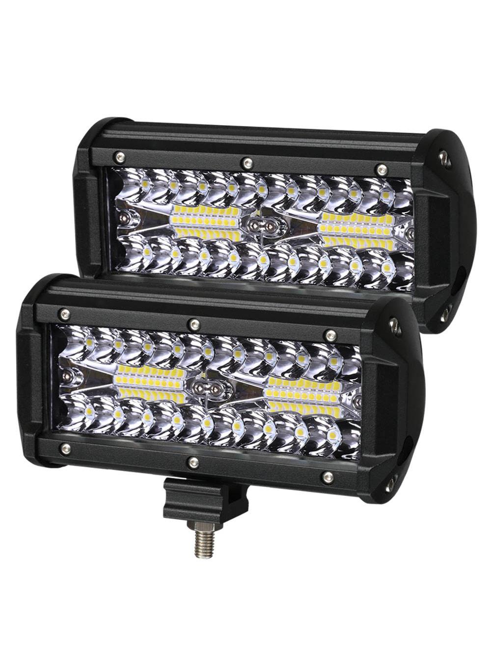 2PCS LED Bar 7 inch LED Light Bar  3 Rows Work Light Combo Beam for Driving Offroad Boat Car Tractor Truck 4x4 SUV 12V 24V