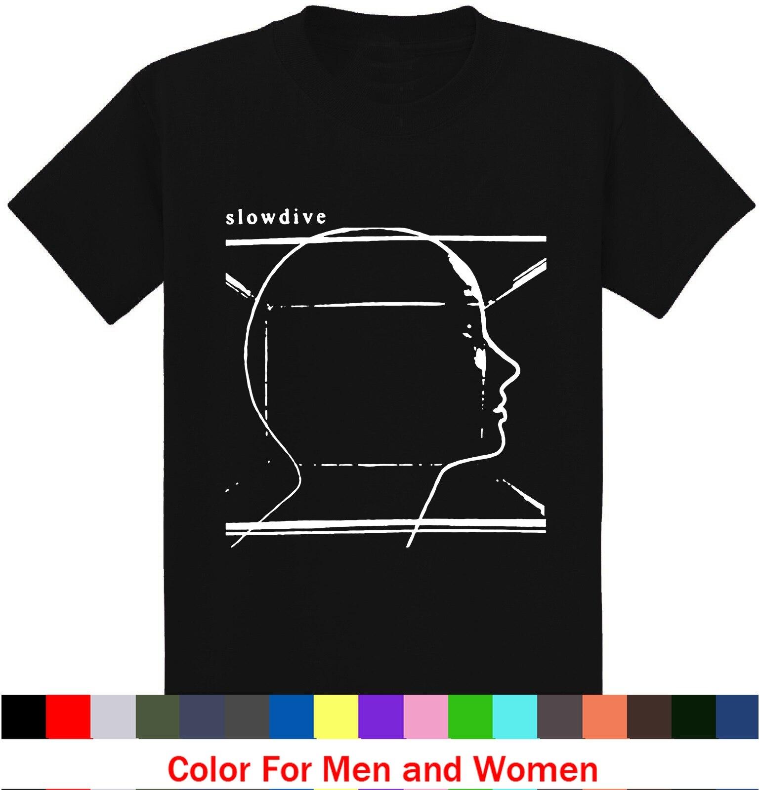 ユーモアtシャツ夏slowdive男性プリントo-ネックtシャツ夏半袖コットンtシャツストリート