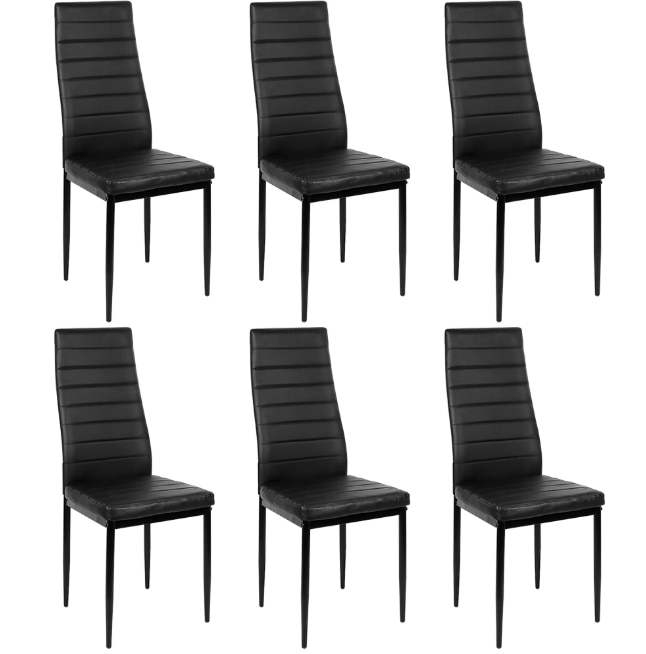 6PCS Dining Chairs Dining Room Home Bar Nordic Style Modern Half Leather Durable High Quality Lounge Chair Living Cafe Room HWC