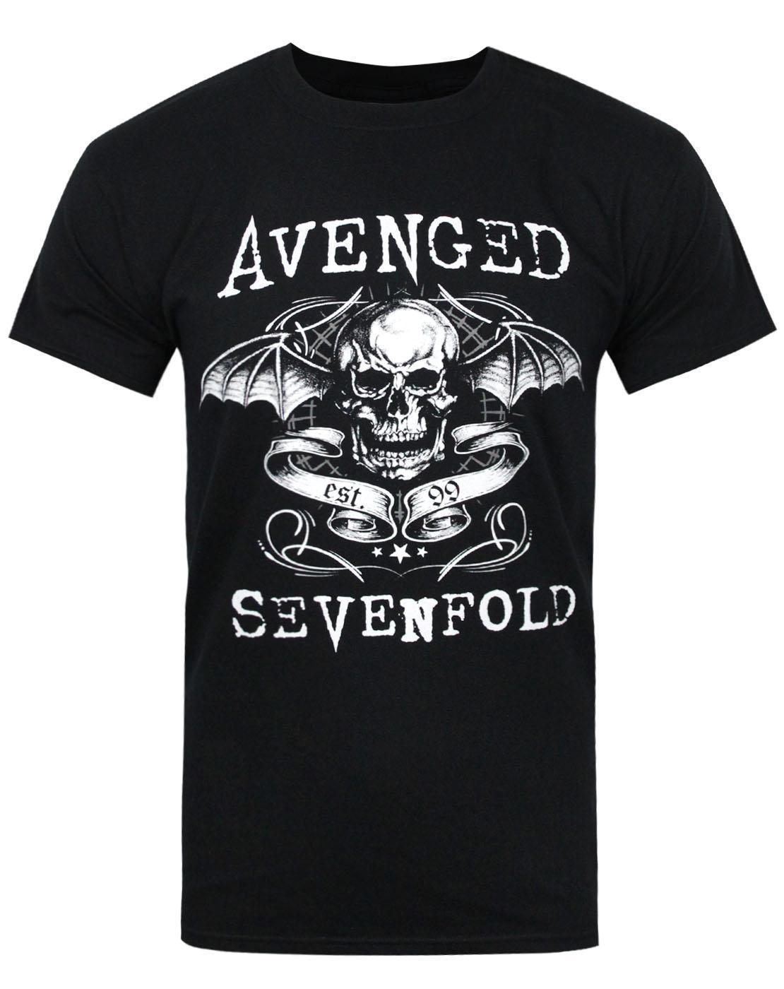 Camiseta oficial Avenged Sevenfold Skull para hombre, camisetas divertidas frescas de verano