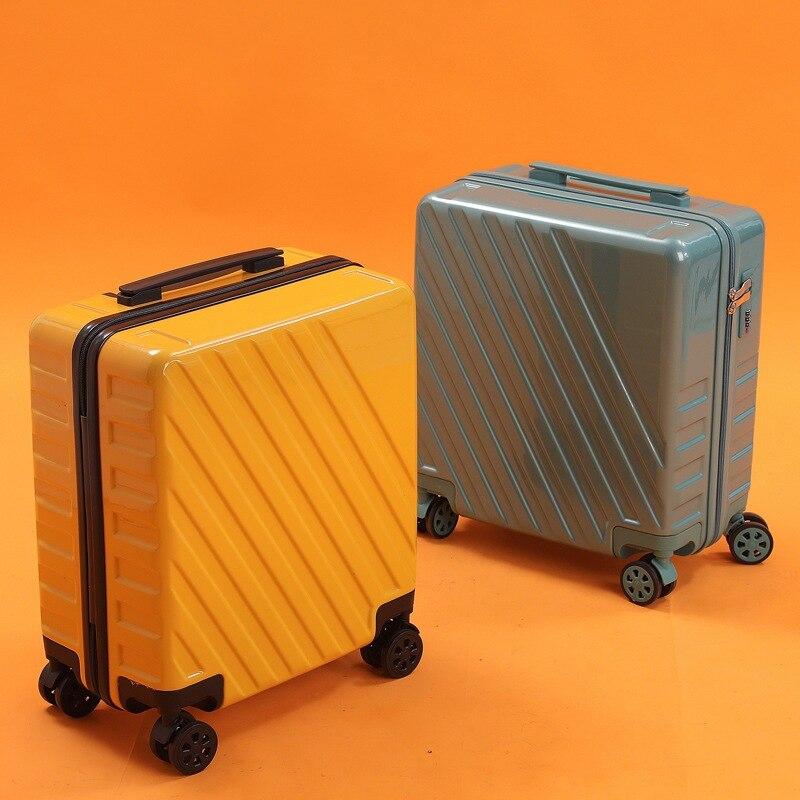 Suitcase boarding code box luggage luggage trolley case lightweight unisex fashion business travel luggage stewardess box