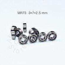 MR73 3*7*2.5 (mm) 10 sztuk darmowa wysyłka łożyska ABEC-5 miniaturowe mini łożysko Fishrod shaker stal chromowana łożyska