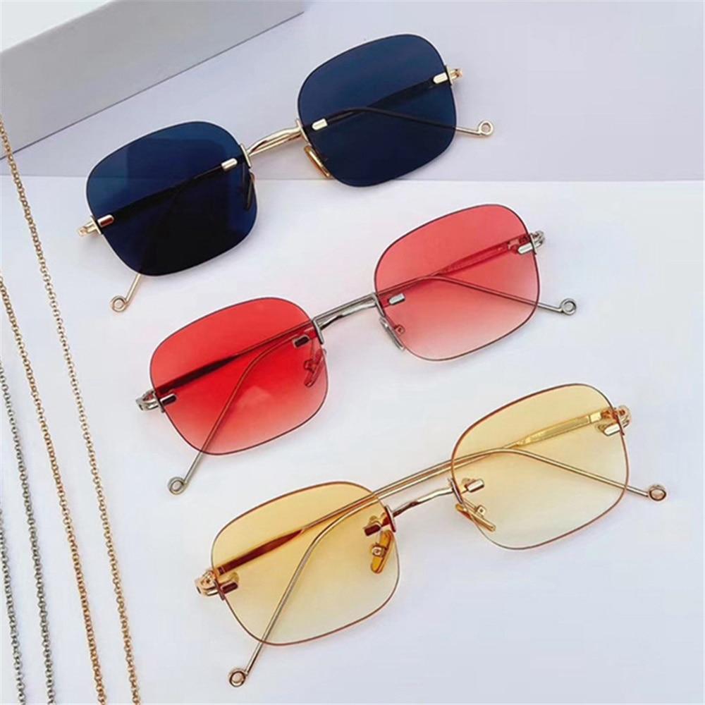 1pc Anti Blue Light Square Eyeglasses Metal Frame Unisex Women Men Computer Eye Protection Eyewear O