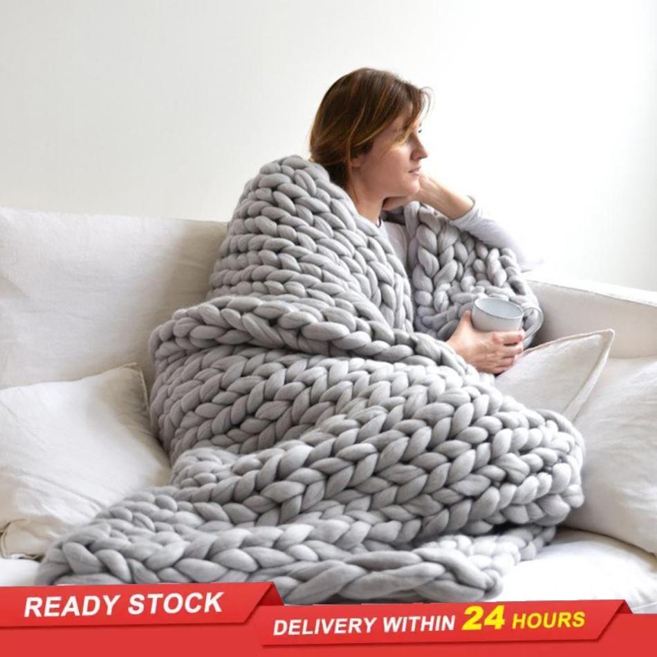 الشمال سميكة موضوع بطانية المنسوجة يدويا بطانية الصوف بطانية أريكة أيسلندا بطانية أريكة بطانية الفراش المنزلية