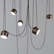 Барабанная люстра, освещение для столовой, спальни, бара, кухни, подвесная подвеска, светильник, ретро, русикт, винтажная Подвесная лампа
