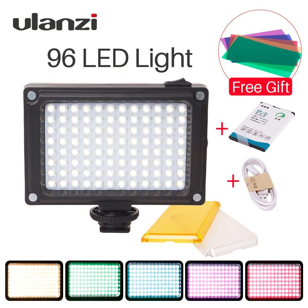 Ulanzi 96 LED Video Light on-Camera External Battery Lamp for DSLR Camera Vlog Fill Light Photograph