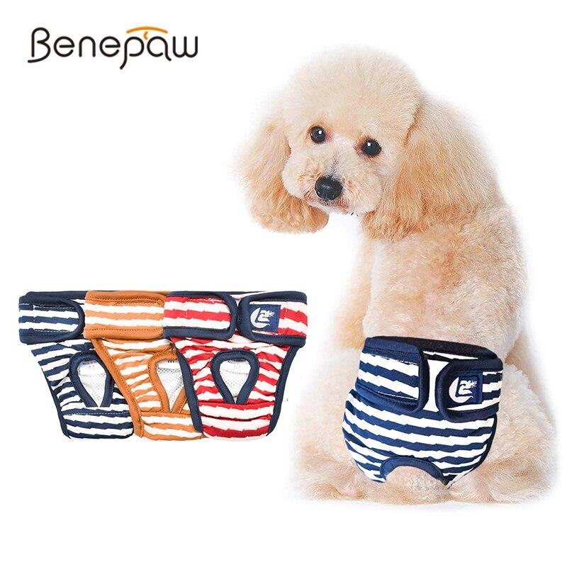 Pañal transpirable Benepaw para perros, cómodo, lavable, absorbente para perros femeninos, bragas sanitarias fáciles de poner/Quitar
