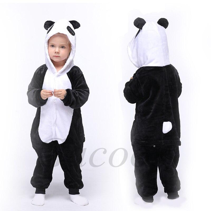 pijama infantil de panda e tigre macacao de unicornio para criancas pequenas pijama