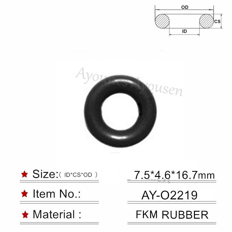 Venta al por mayor de alta calidad 16 piezas sellos de junta tórica de goma 7,5*4,6mm para inyector Toyota GDI (AY-O2219)