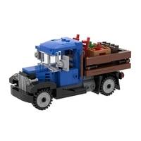 moc retro 1930s delivery farm truck building blocks kit idea goods car bricks assemble vehicle toys for children birthday gifts