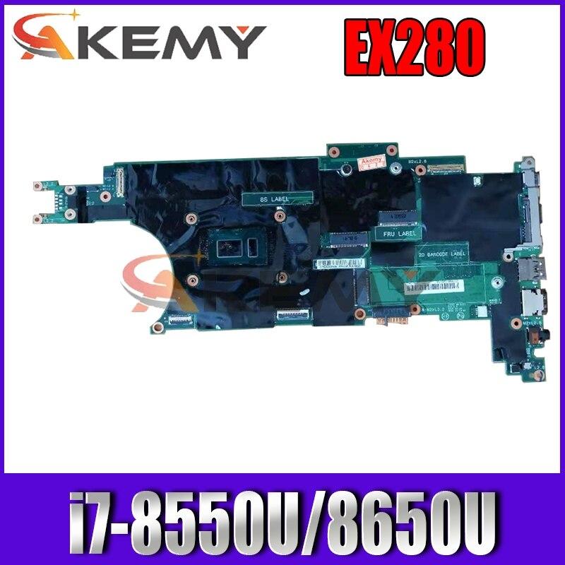 لينوفو ثينك باد X280 اللوحة المحمول EX280 NM-B521 W/ i7-8550U i7-8650U 16GB-RAM 100% اختبار FRU 01LX688 01LX676 01LX68