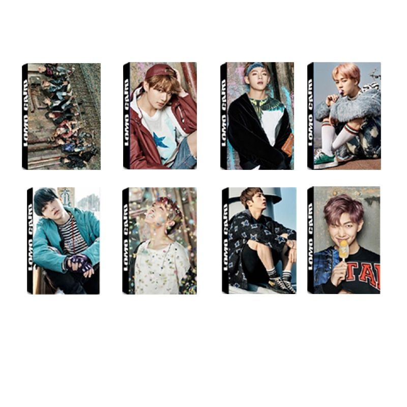 kpop lomo card bangtan boys album map of the soul persona member photocard set 30 cards 2020 Hot South Korean Groups KPOP Bangtan Boys Lomo Card Album LOVE Your Self Collection Card Photocard Gift wings  cards ins