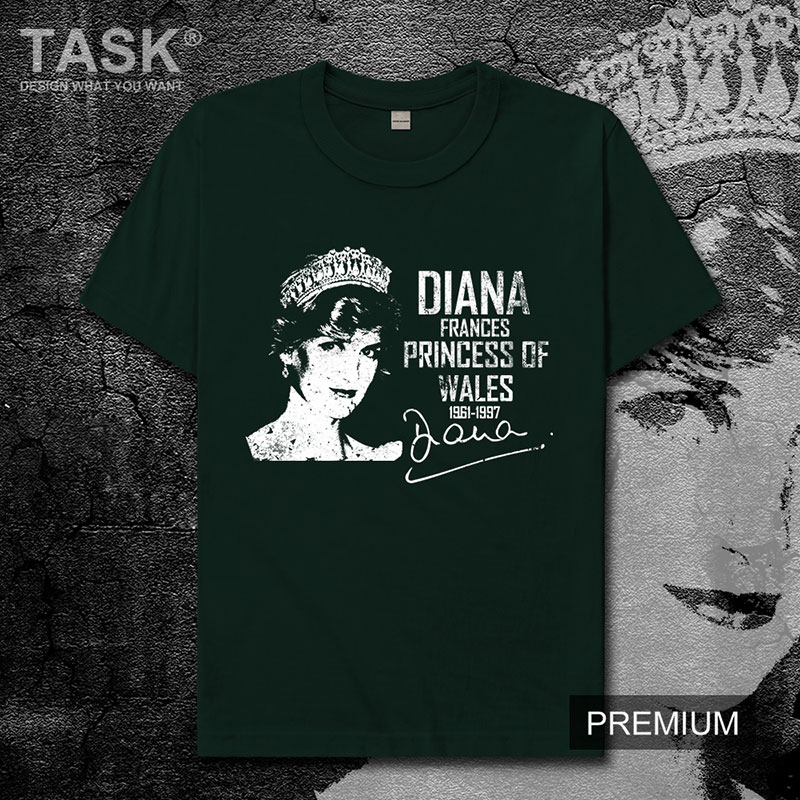 Celebrity Diana Spencer United Kingdom Charity angel Princess of the people new Tops t-shirt Short sleeve clothes cotton mens 01