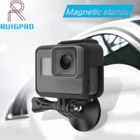 Magnetic Holder for Go pro Accessories Magnet Metal Tripod Universal Mount Adapter for Gopro Hero 9 8 7 6 5 4 3  Xiaomi Yi sjcam