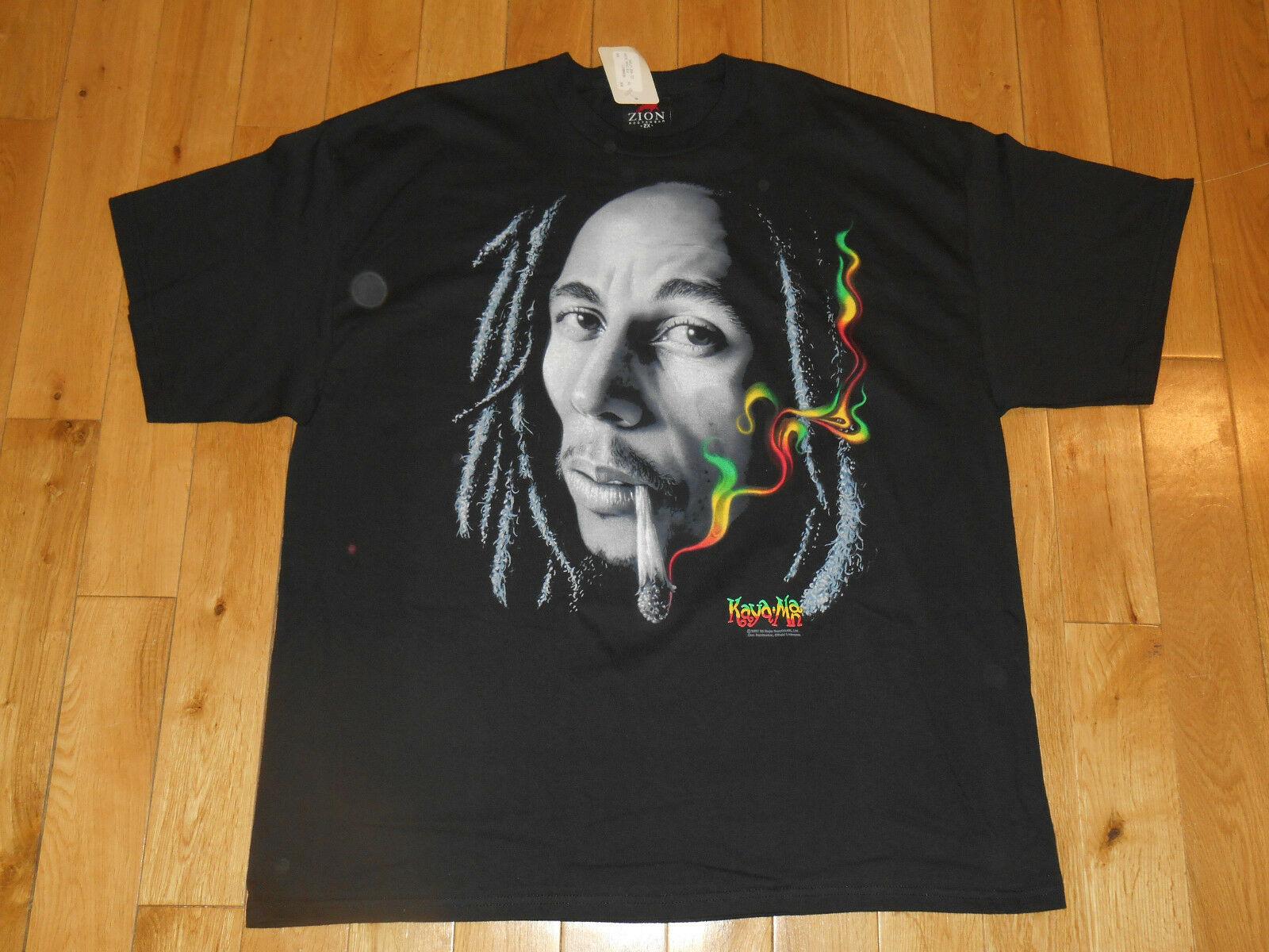 Nwt Bob Marley los balleneros Rasta humo Kaya hombre Zion Rootswear Mens T camisa 2Xl