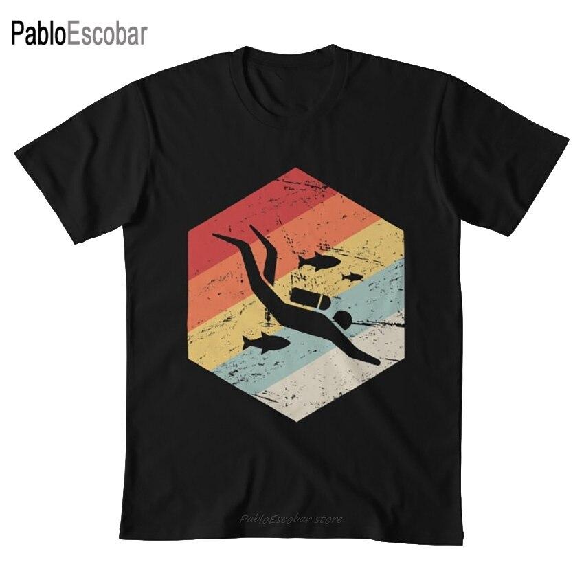 Retro 70s Buceo r icono T camisa de buceo Buceo r Buceo buceo buzo aletas de agua de mar