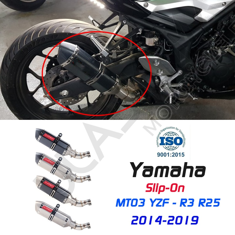 MT-03 MT03 دراجة نارية العادم Pipe الأنابيب الأوسط وصلة الأنابيب الهروب لياماها YZF-R3 R3 R25 R30 2015 2016 زلة onالعادم