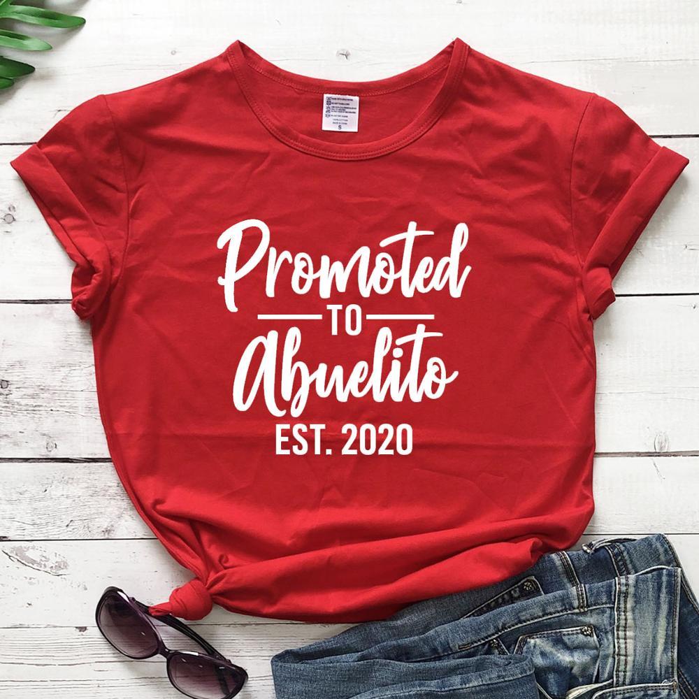 Promoción a Abuelito camiseta cristiana Biblia bautismo religión mujeres moda algodón casual...