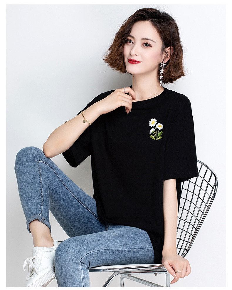 Camiseta de moda de Sistina Harajuku Ulzzang Tumblr, camiseta de mujer Kawaii, camiseta femenina roja
