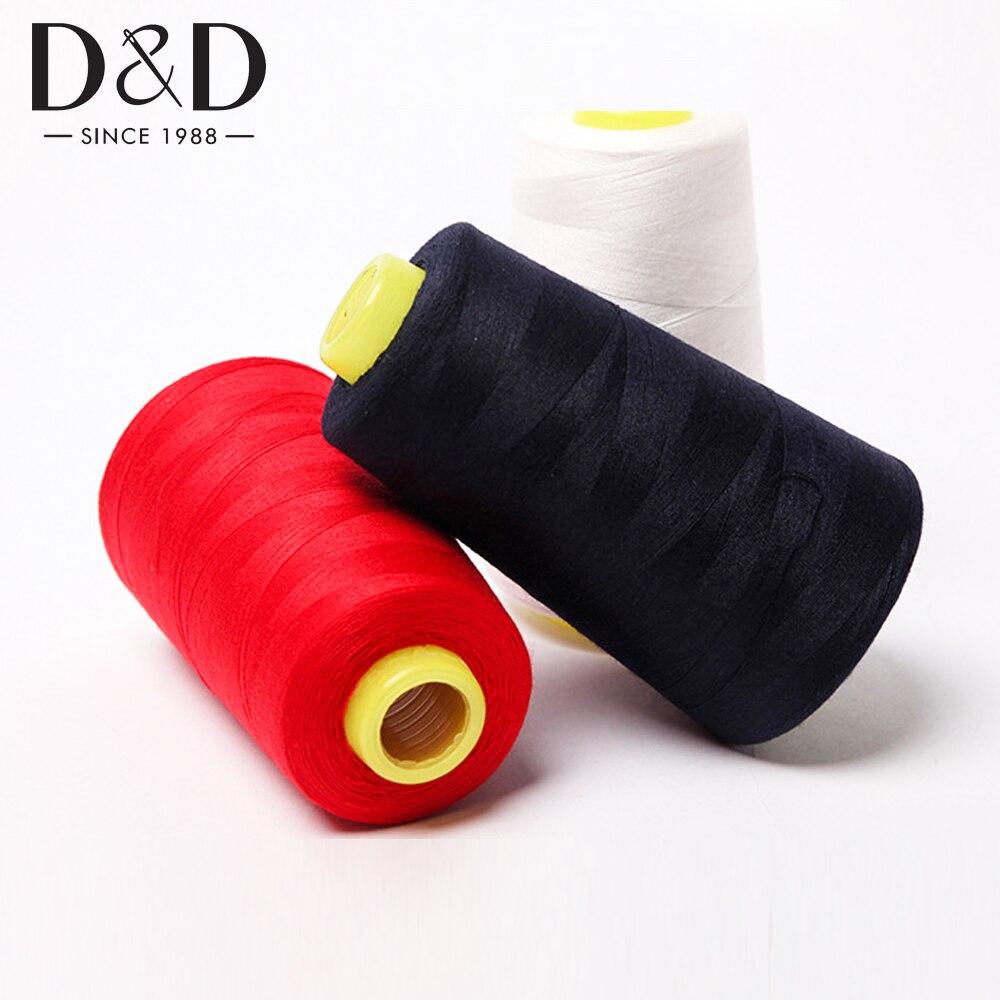 3000M Nähgarn 40s/2 Polyester Gewinde Spulen für Nähen Quilten Overlock Hand & Nähen Maschine Weiß schwarz Themen